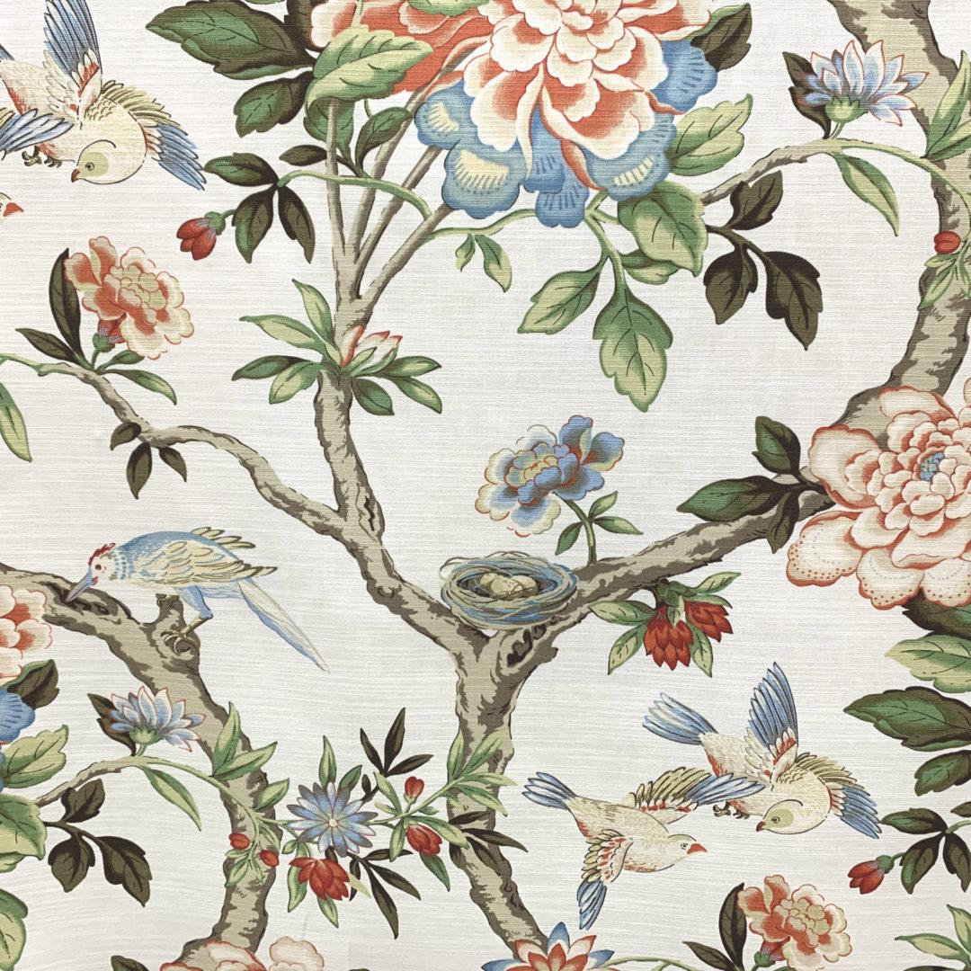 Mudan - Persimmon - Designer & Decorator Fabric from #1 Online Fabric Store