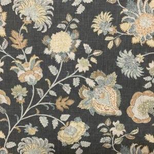 Bronte - Graphite - Designer & Decorator Fabric from #1 Online Fabric Store