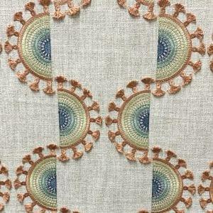Solana Emb - Sunset - Designer Fabric from Online Fabric Store