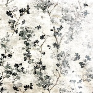 In Bloom - Blue Smoke- Designer Fabric from Online Fabric Store