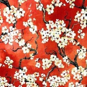 Sakura - 318 Persimmon- Designer Fabric from Online Fabric Store
