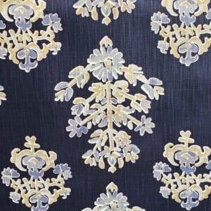 Clara- Indigo- Designer Fabric from Online Fabric Store