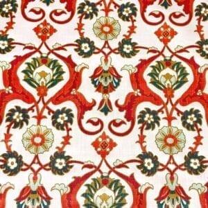 Iznet - Vermillion- Designer Fabric from Online Fabric Store