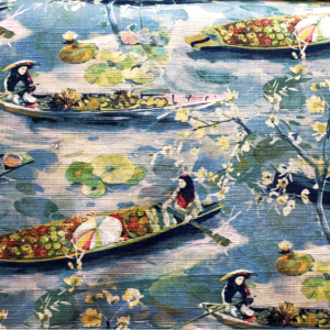 Bangkok - River- Designer Fabric from Online Fabric Store